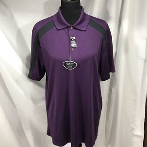 Grandslam NWT Slim Fit Purple & Black Polo Shirt